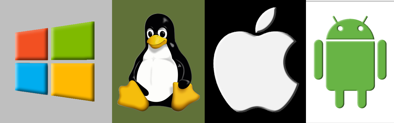 Operating-System-Apple-Android-Windows-Linux