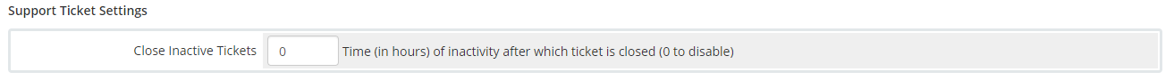Support Ticket Settings WHMCS