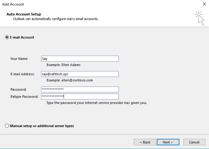 Outlook Configure