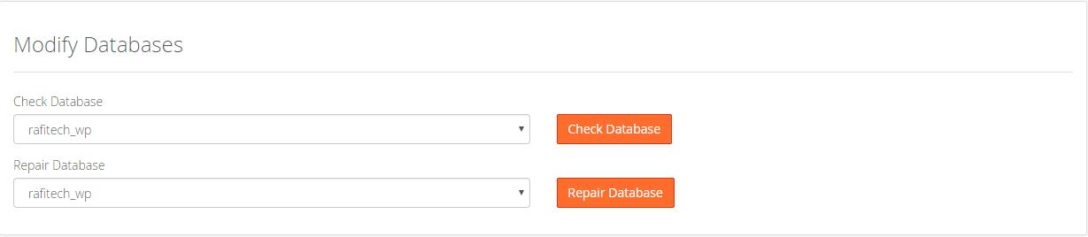 Modify Database